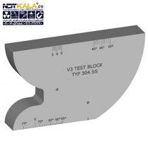 تست بلوک کالیبراسیون V3- فولادی – آلومینیومی _ بلوک V3 – V3 Block