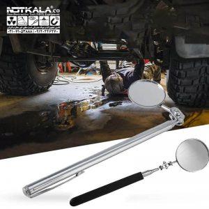قیمت خرید ارزان آینه بازرسی جوش تلسکوپی چراغدار inspection mirror with light
