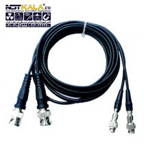 کابل دستگاه تست التراسونیک (کابل دستگاه ut) و دستگاه ضخامت سنج BNCبه Q6 (بی ان سی به کیو 6) مارک داپلر Ultrasonic Dual Cable – Doppler